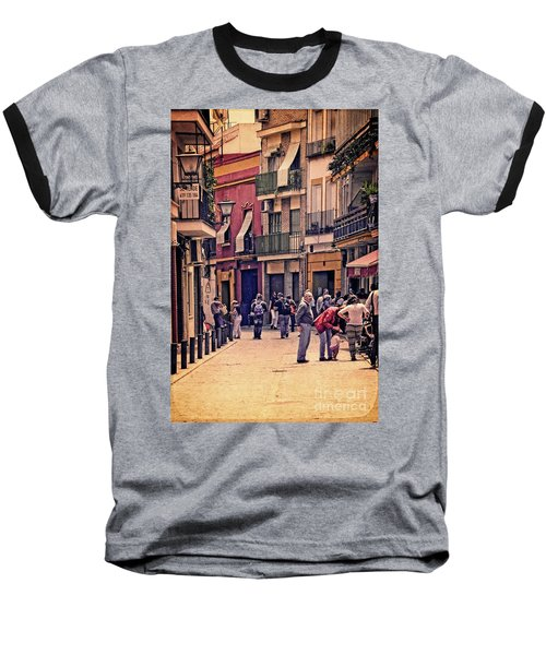 Baseball T-Shirt featuring the photograph Triana On A Sunday Afternoon 2 by Mary Machare
