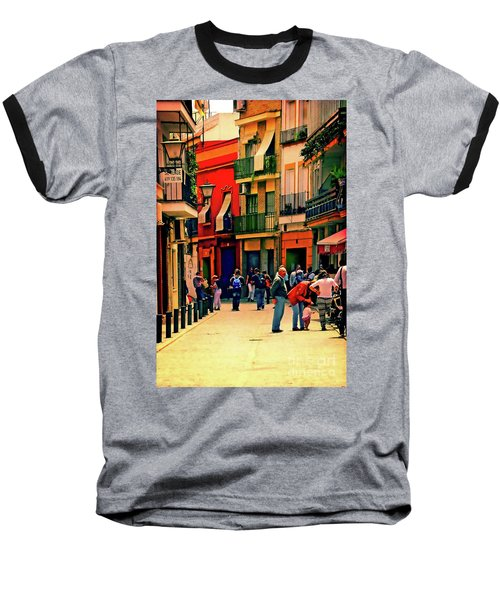Baseball T-Shirt featuring the photograph Triana On A Sunday Afternoon 3 by Mary Machare