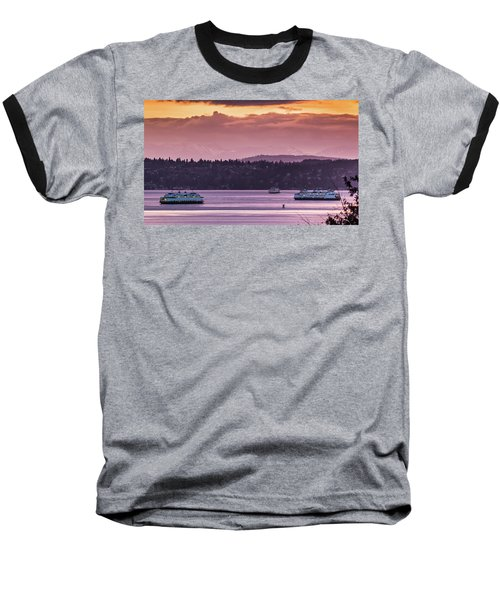 Triangle Ferry Run Baseball T-Shirt
