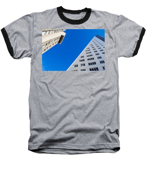 Triangle Modern Building Baseball T-Shirt