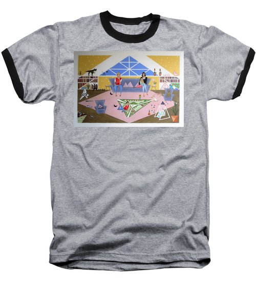 Triangular Life. Family Baseball T-Shirt