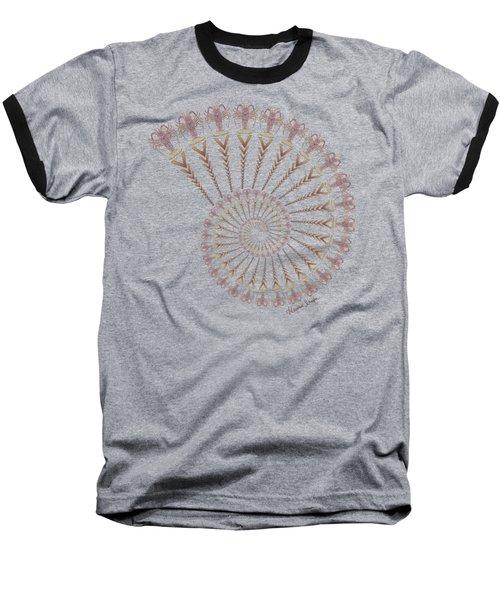 Tribal Caribbean Lobster Spiral Shell Baseball T-Shirt