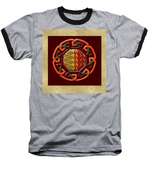 Baseball T-Shirt featuring the painting Tribal Celt Earthiness by Kandy Hurley