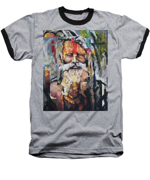 Tribal Chief Sadhu Baseball T-Shirt by Richard Day