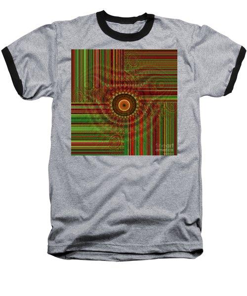 Tribal Drape Baseball T-Shirt by Thibault Toussaint
