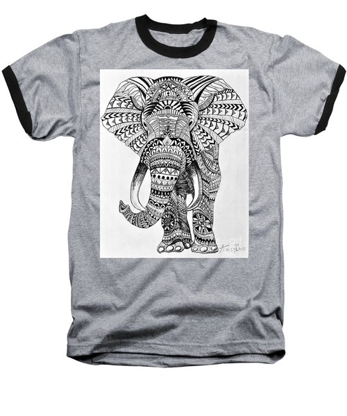 Tribal Elephant Baseball T-Shirt