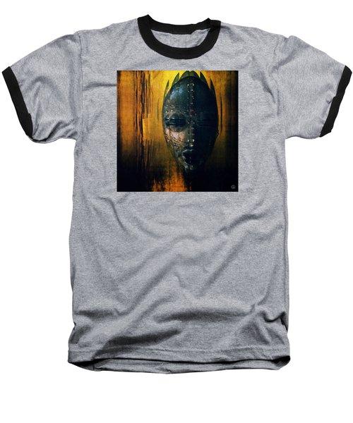 Tribal Mask Baseball T-Shirt by Gun Legler
