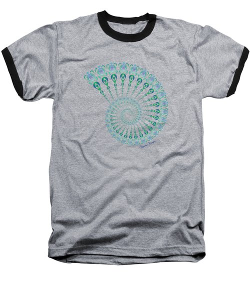 Tribal Turtle Spiral Shell Baseball T-Shirt