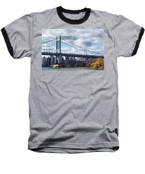 Triboro Bridge In Autumn Baseball T-Shirt