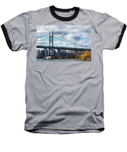 Triboro Bridge In Autumn Baseball T-Shirt
