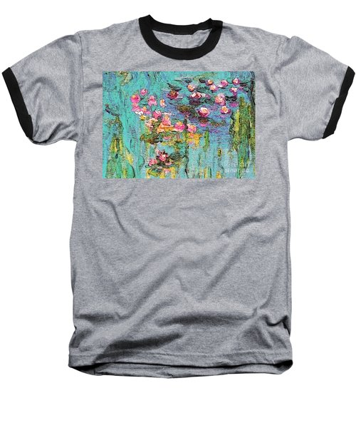 Tribute To Monet II Baseball T-Shirt by Holly Martinson