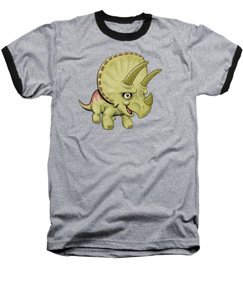 Triceratops Baseball T-Shirt