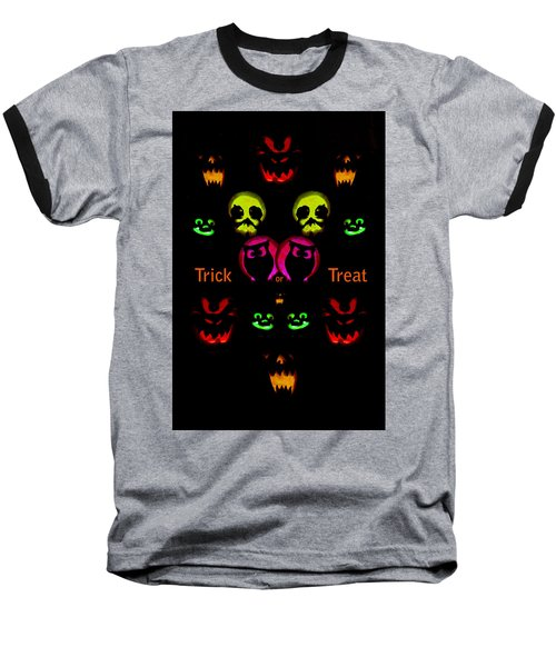 Trick Or Treat Baseball T-Shirt by Greg Norrell