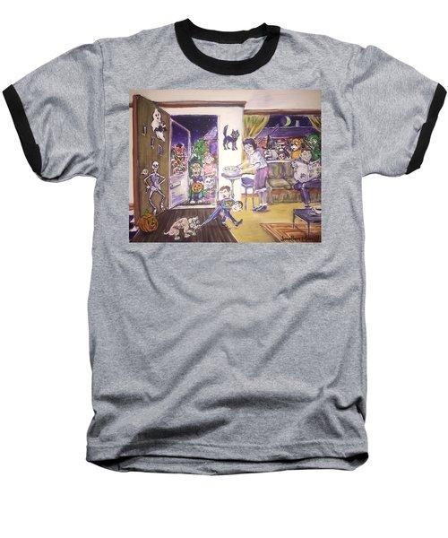 Trick Or Treat On Exeter Street Baseball T-Shirt