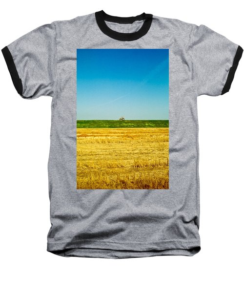 Tricolor With Tractor Baseball T-Shirt