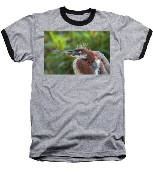Tricolored Heron - Bad Hair Day Baseball T-Shirt