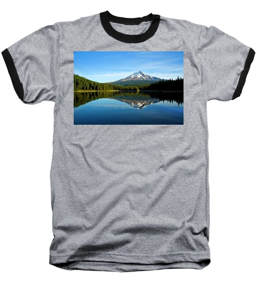 Trillium Lake Mt Hood Fall Baseball T-Shirt