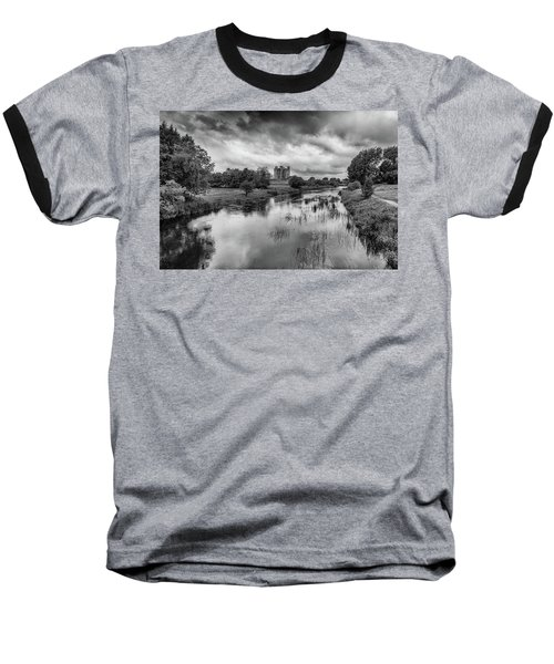 Trim Castle And The River Boyne Baseball T-Shirt by Martina Fagan