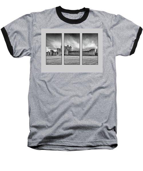 Trim Castle Triptych  Baseball T-Shirt by Martina Fagan