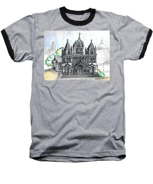 Trinity Church Boston Baseball T-Shirt by Paul Meinerth