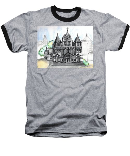 Trinity Church Boston Baseball T-Shirt