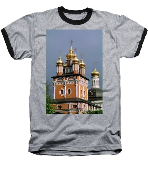 Trinity Lavra Of St. Sergius Monastery Sergiev Posad Zagorsk Baseball T-Shirt by Wernher Krutein