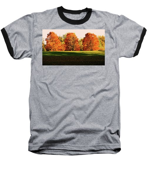 Trinity Trees Baseball T-Shirt by Hye Ja Billie