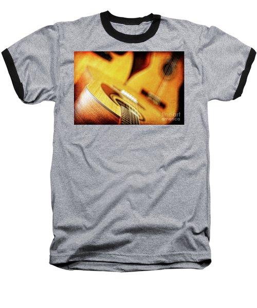 Trio Of Acoustic Guitars Baseball T-Shirt