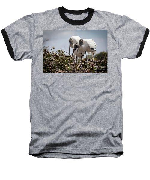 Trio Of Wood Storks Baseball T-Shirt