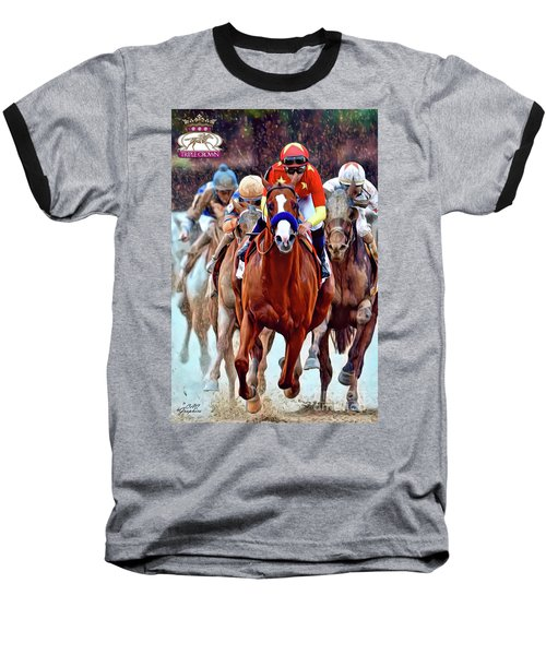 Triple Crown Winner Justify 2 Baseball T-Shirt
