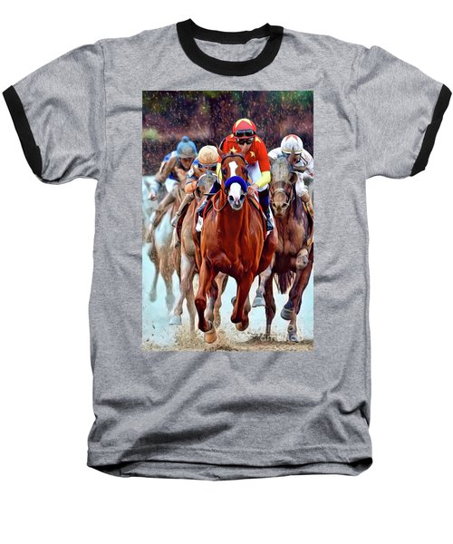 Triple Crown Winner Justify Baseball T-Shirt