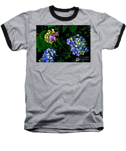 Baseball T-Shirt featuring the photograph Triple Hydrangia In Spring by Marsha Heiken