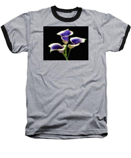 Triple Royal Floral Baseball T-Shirt