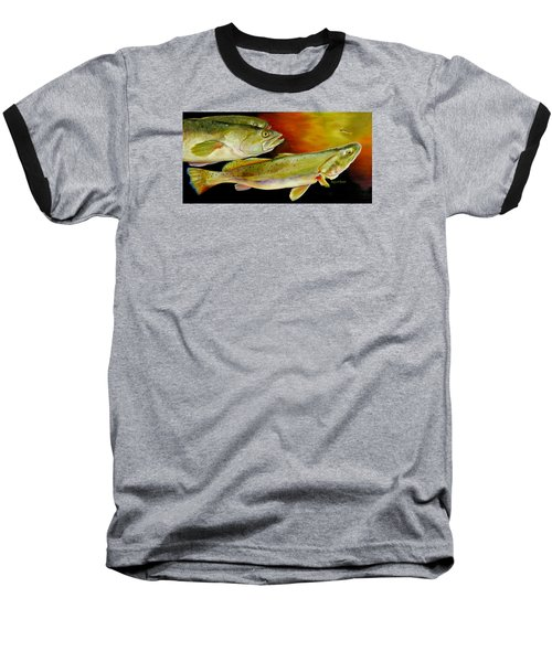 Triple Trout Baseball T-Shirt by Phyllis Beiser