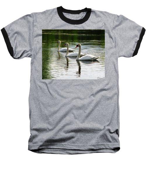 Triplet Swans Baseball T-Shirt