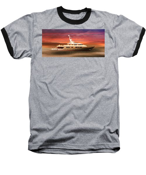 Baseball T-Shirt featuring the photograph Triton Yacht by Aaron Berg
