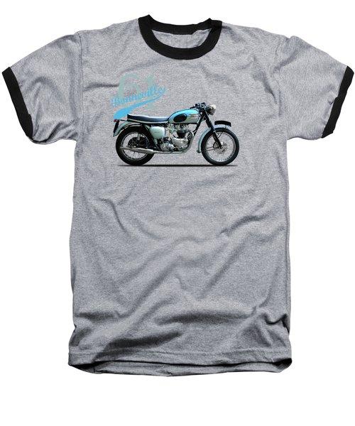 Triumph Bonneville 1961 Baseball T-Shirt by Mark Rogan
