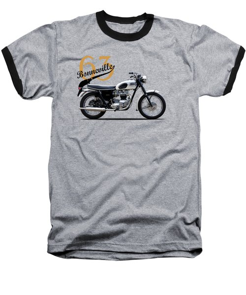Triumph Bonneville 1963 Baseball T-Shirt by Mark Rogan