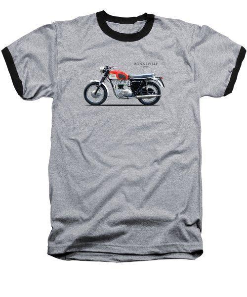 Triumph Bonneville 1966 Baseball T-Shirt by Mark Rogan