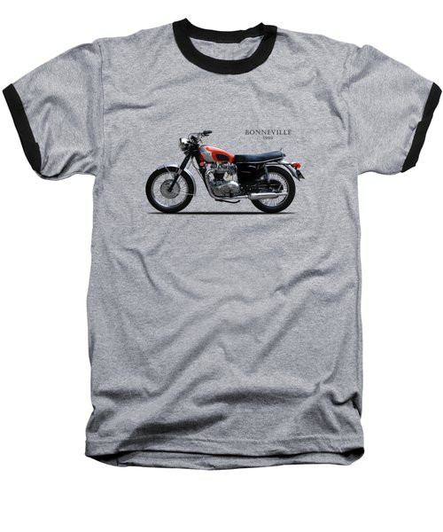 Triumph Bonneville 1969 Baseball T-Shirt by Mark Rogan