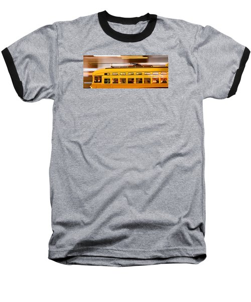 Baseball T-Shirt featuring the photograph Trolley 1052 On The Move by Steve Siri