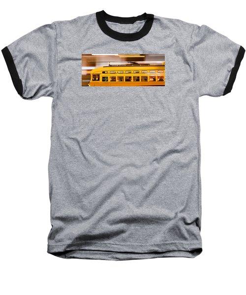 Trolley 1052 On The Move Baseball T-Shirt by Steve Siri