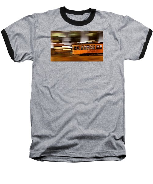 Baseball T-Shirt featuring the photograph Trolley 1856 On The Move by Steve Siri