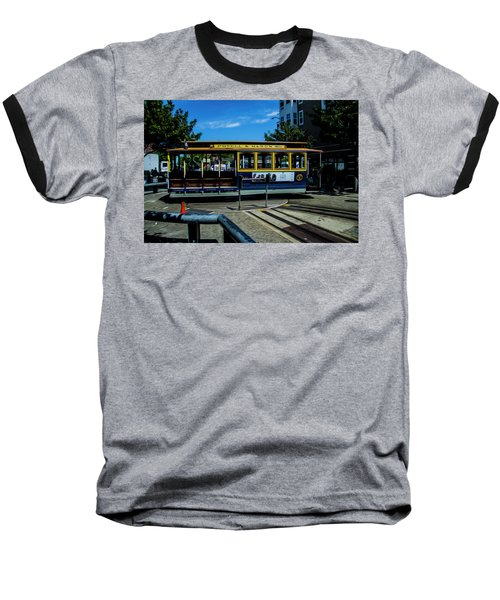 Trolley Car Turn Around Baseball T-Shirt