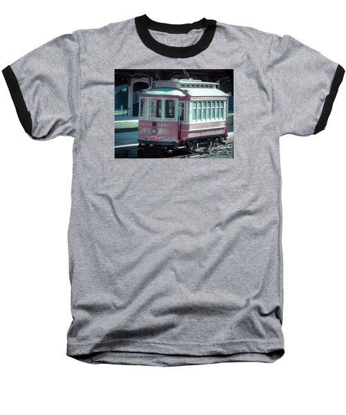 Baseball T-Shirt featuring the photograph The Trolley by Melissa Messick
