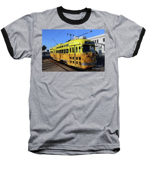 Baseball T-Shirt featuring the photograph Trolley Number 1052 by Steven Spak
