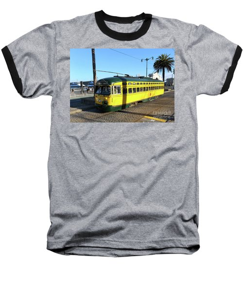 Baseball T-Shirt featuring the photograph Trolley Number 1071 by Steven Spak