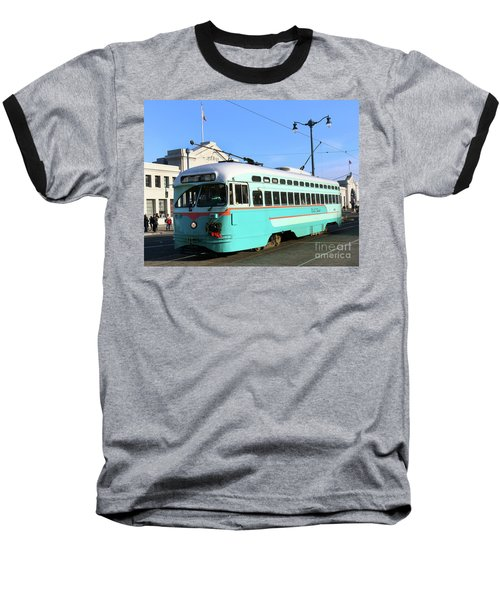 Baseball T-Shirt featuring the photograph Trolley Number 1076 by Steven Spak
