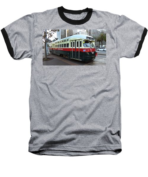 Baseball T-Shirt featuring the photograph Trolley Number 1077 by Steven Spak