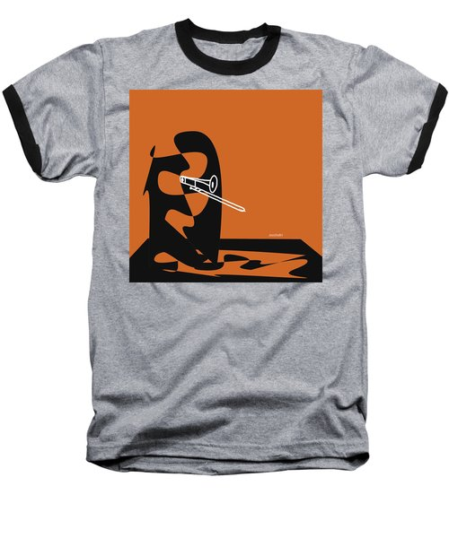 Trombone In Orange Baseball T-Shirt